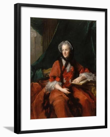 Portrait of Marie Leszczynska, Queen of France (1703-176)-Jean-Marc Nattier-Framed Giclee Print