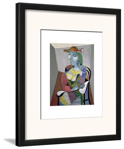 Portrait of Marie-Therese, 6th January 1937-Pablo Picasso-Framed Art Print