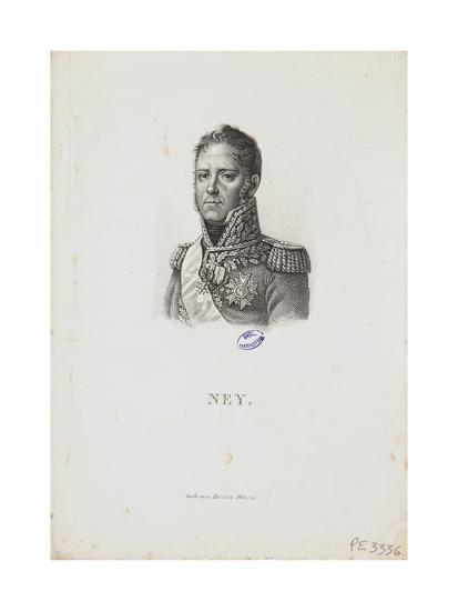 Portrait of Marshal Michel Ney, 1814-Francois Pascal Simon Gerard-Giclee Print