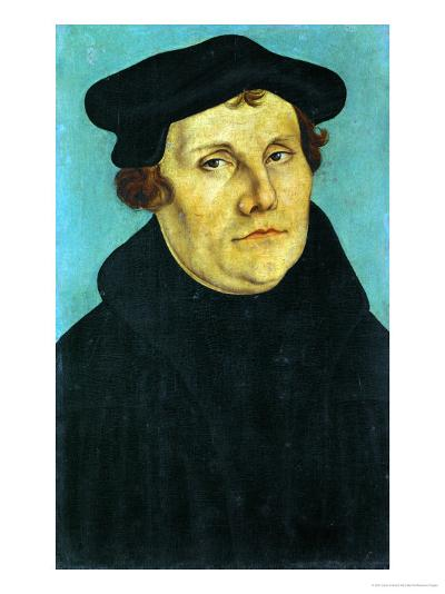Portrait of Martin Luther, 1529-Lucas Cranach the Elder-Giclee Print