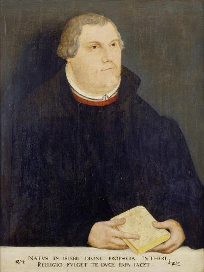 Portrait of Martin Luther, 1568-Lucas Cranach, the Elder (Studio of)-Giclee Print