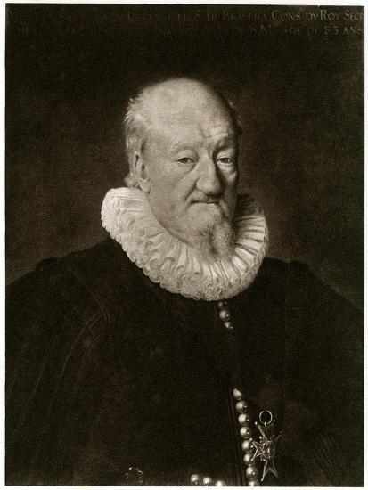 Portrait of Martin Ruzé De Beaulieu-Frans Porbus-Giclee Print