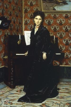 Portrait of Mary Donegani, 1869-Giovanni Boldini-Giclee Print