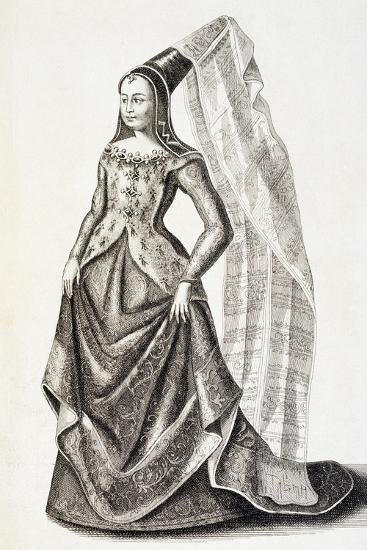 Portrait of Mary of Burgundy--Giclee Print
