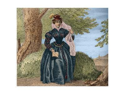 Portrait of Mary Queen of Scots-Stefano Bianchetti-Giclee Print