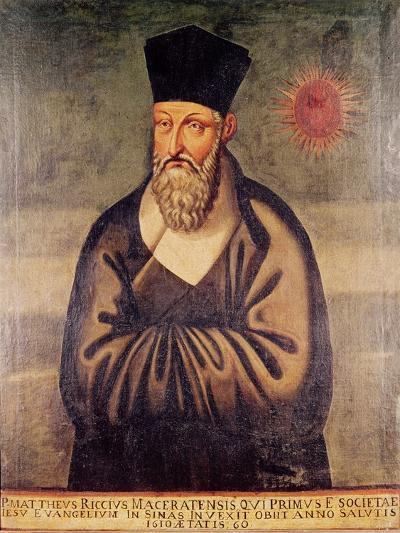 Portrait of Matteo Ricci (1552-1610) Italian Missionary, Founder of the Jesuit Mission in China--Giclee Print