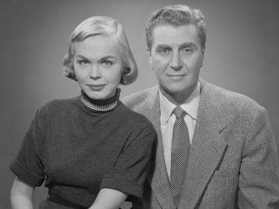 Portrait of Mature Couple, Studio Shot-George Marks-Photographic Print