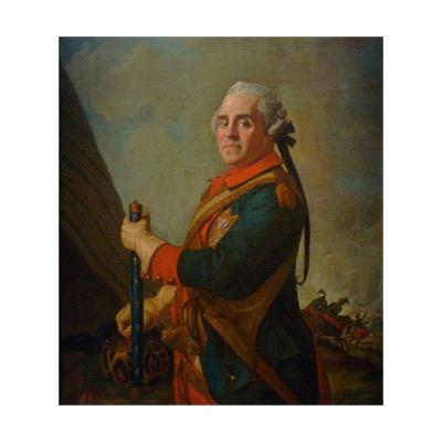Portrait of Maurice De Saxe, Marshal of France, 18th Century-Jean-?tienne Liotard-Giclee Print