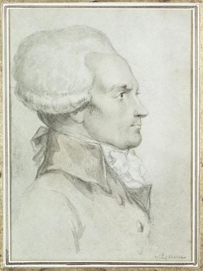Portrait of Maximilien de Robespierre-Jean-Michel Moreau the Younger-Giclee Print