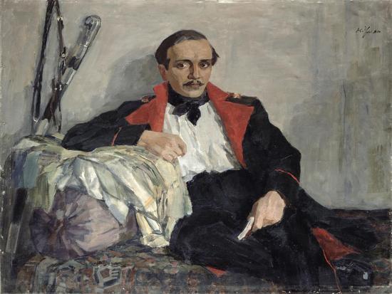 Portrait of Michail Lermontov-Nikolai Pavlovich Ulyanov-Giclee Print