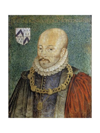 Portrait of Michel De Montaigne--Giclee Print