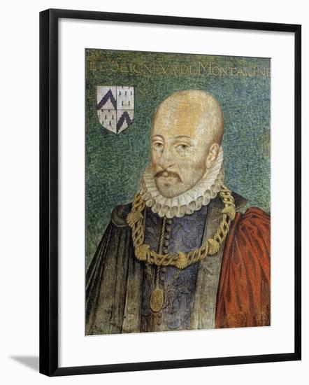 Portrait of Michel De Montaigne--Framed Giclee Print