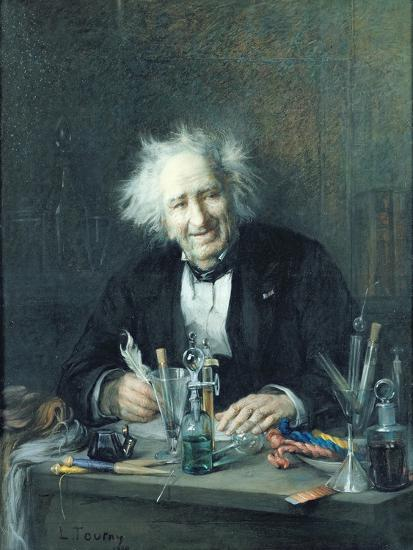 Portrait of Michel-Eugene Chevreul-Leon Auguste Tourny-Giclee Print