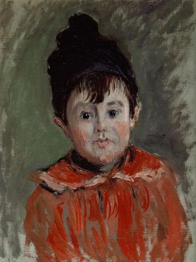 Portrait of Michel with Bonnet and Pompon, 1880-Claude Monet-Giclee Print