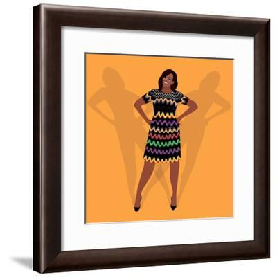 Portrait of Michelle Obama-Claire Huntley-Framed Giclee Print