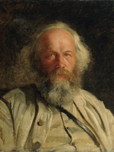 Portrait of Mikhail Alexandrovich Bakunin-Nikolai Nikolajevitch Gay-Giclee Print