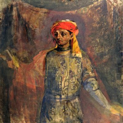 Portrait of Mikhail Kuzmin, 1911-12-Nikolai Sapunov-Giclee Print