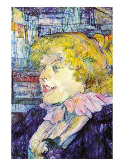 Portrait of Miss Dolly-Henri de Toulouse-Lautrec-Art Print