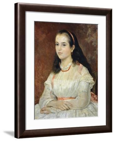 Portrait of Miss Siccoli, 1866-Giovanni Fattori-Framed Giclee Print