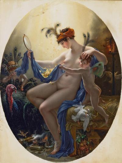Portrait of Mlle, Lange as Danae, 1799-Anne-Louis Girodet de Roussy-Trioson-Giclee Print
