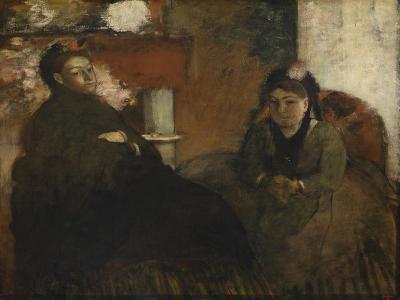 Portrait of Mme. Lisle and Mme. Loubens, 1866-70-Edgar Degas-Giclee Print
