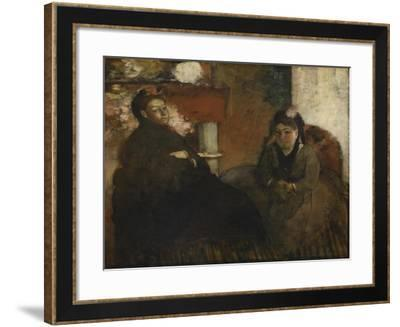 Portrait of Mme. Lisle and Mme. Loubens, 1866-70-Edgar Degas-Framed Giclee Print