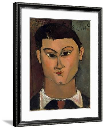 Portrait of Moise Kisling by Amedeo Modigliani--Framed Photographic Print
