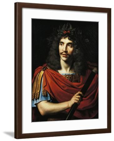 Portrait of Moliere, Pseudonym of Jean-Baptiste Poquelin--Framed Giclee Print