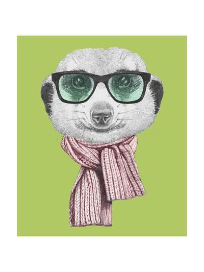 Portrait of Mongoose. Hand Drawn Illustration.-victoria_novak-Art Print