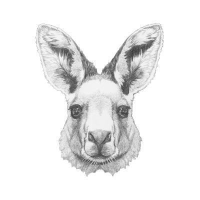 Portrait of Mongoose with Mirror Sunglasses. Hand Drawn Illustration.-victoria_novak-Art Print