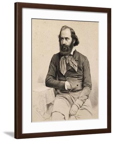 Portrait of Moritz Hartmann--Framed Giclee Print