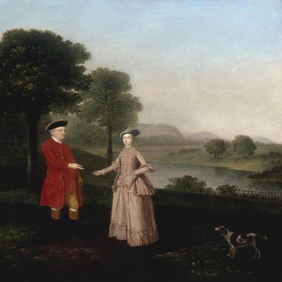 Portrait of Mr and Mrs John Broadhurst of Foston Hall, Derbyshire-Arthur Devis-Giclee Print