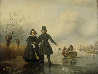 Portrait of Mr. and Mrs. Thijssen on the Ice-Jacobus Sorensen-Art Print