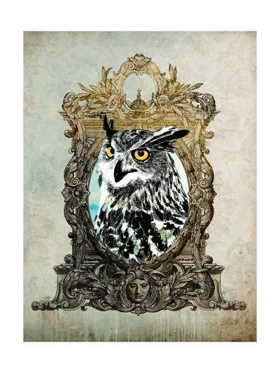 Portrait of Mr. Owl-GI ArtLab-Premium Giclee Print