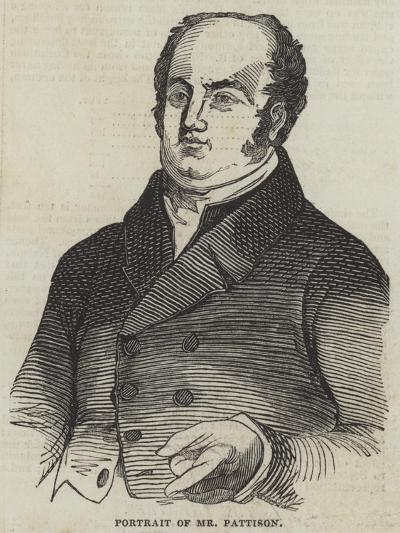 Portrait of Mr Pattison--Giclee Print