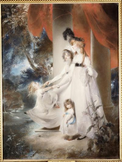 Portrait of Mrs Ayscoghe Boucherett with Her Two Eldest Children, Emilia and Ayscoghe-Thomas Lawrence-Giclee Print
