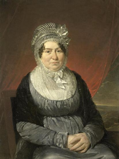 Portrait of Mrs. Brak-Haskenhoff-Cornelis Kruseman-Art Print