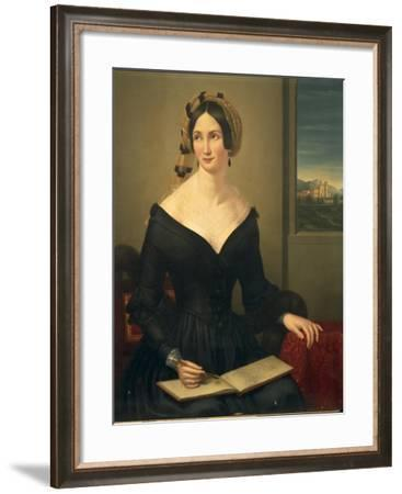Portrait of Mrs. Grifoni by Crescentino Grifoni--Framed Giclee Print
