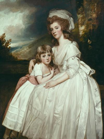 Portrait of Mrs Richard Pryce Corbet and Her Daughter, 1780-George Romney-Giclee Print