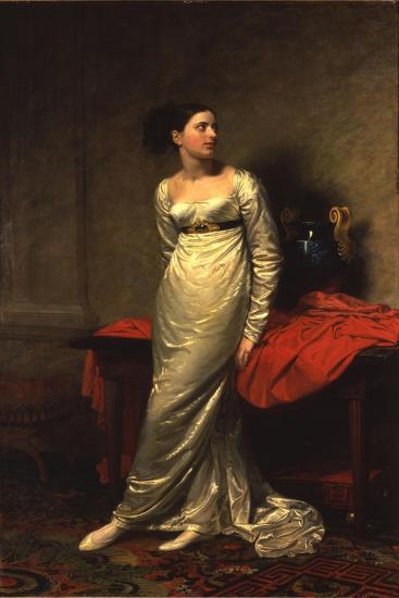 Portrait of Mrs White (Nee Watford), Full Length in a White Silk Dress, 1809-George Dawe-Giclee Print