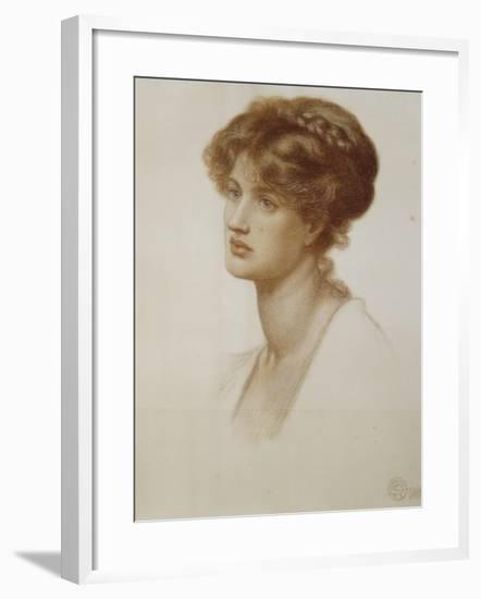 Portrait of Mrs. William J. Stillman, Nee Marie Spartali, Bust Length, 1869-Dante Gabriel Rossetti-Framed Giclee Print