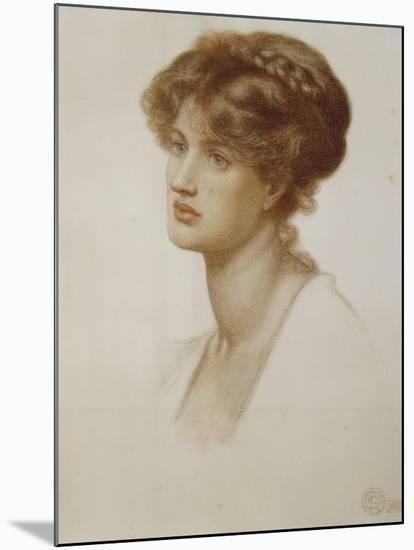 Portrait of Mrs. William J. Stillman, Nee Marie Spartali, Bust Length, 1869-Dante Gabriel Rossetti-Mounted Giclee Print