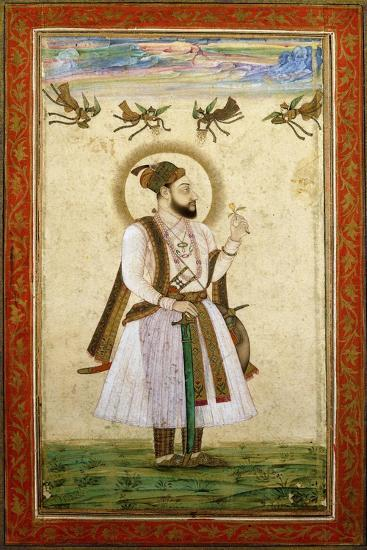 Portrait of Muhammad 'Adil Shah Ii, C.1650 (W/C and Gold Paint on Paper)--Giclee Print