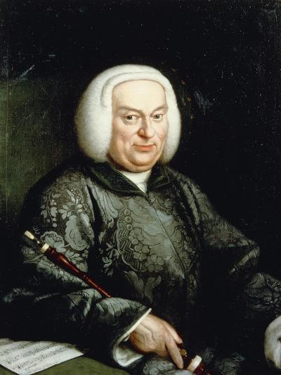 Portrait of Musician with Oboe, 18th Century--Giclee Print