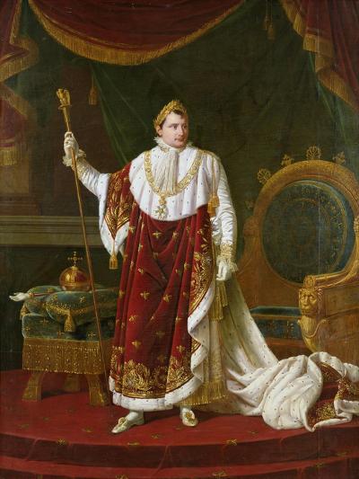 Portrait of Napoleon (1769-1821) in His Coronation Robes, 1811-Robert Lefevre-Giclee Print