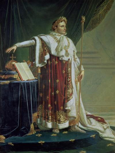 Portrait of Napoleon I in His Coronation Robes, 1804-Anne-Louis Girodet de Roussy-Trioson-Giclee Print