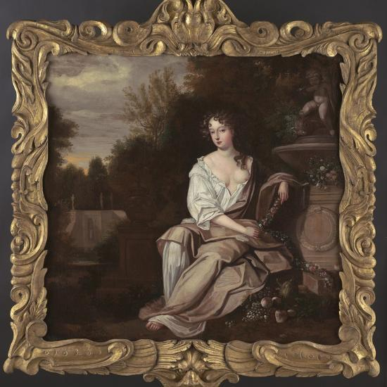Portrait of Nell Gywn with Frame, 1670s-Sir Peter Lely-Giclee Print