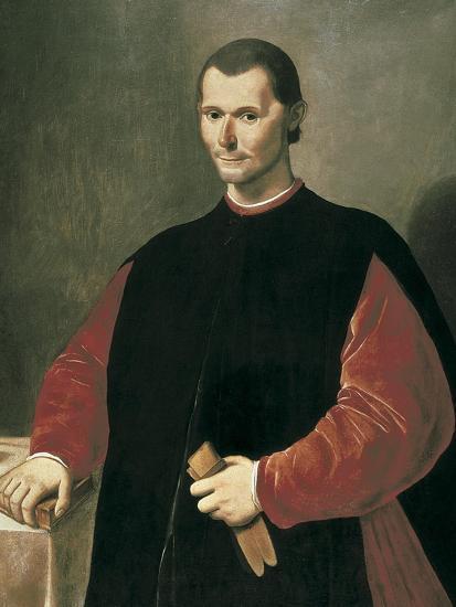 Portrait of Niccolo Machiavelli-Santi Di Tito-Art Print