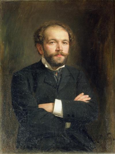 Portrait of Nikolai Karlovich Medtner-Viktor Karlovich Stemberg-Giclee Print
