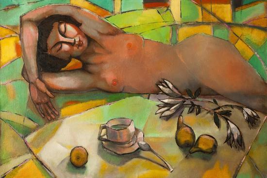 Portrait of Nude Female-Lilun-Art Print